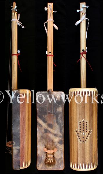 gnaoua music, guembri, handmade instrument