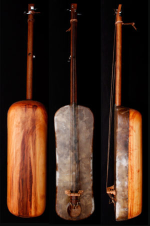 A Three Stringed Skin-covered Bass, Strings for Moroccan Guembri Gimbri,