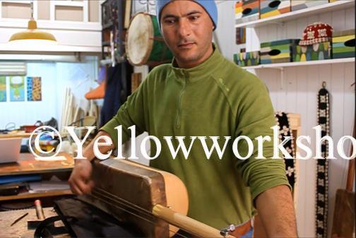 guembri shop essaouira gnaoua music, hassan laarousi